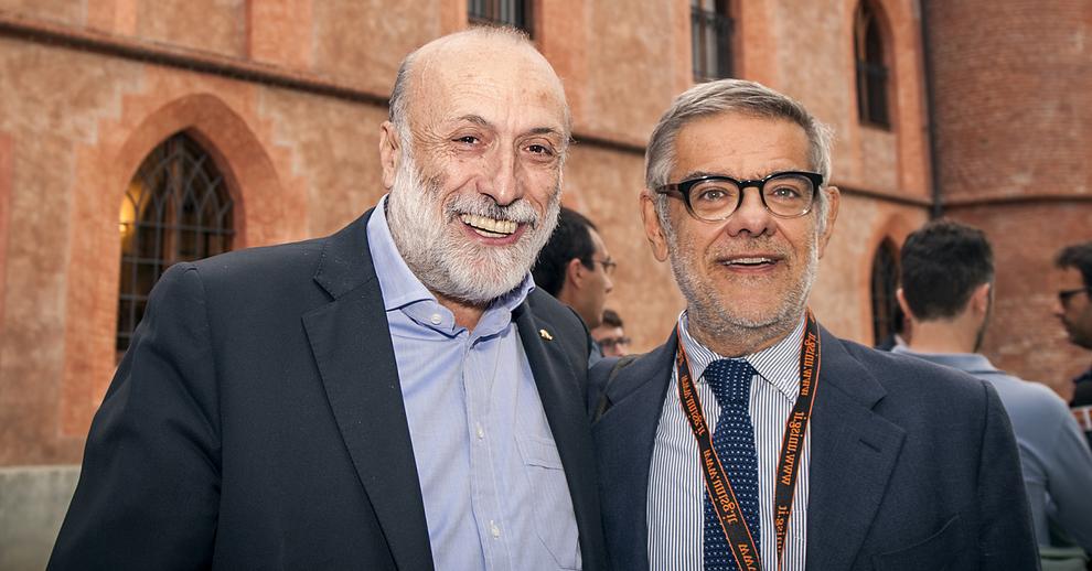 Carlo Petrini e Gigi Padovani