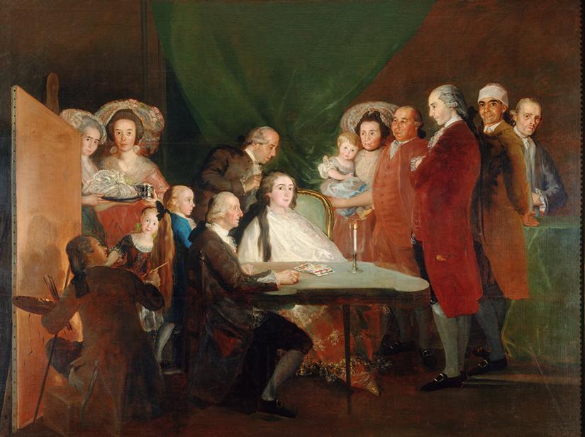 Francisco de Goya y Lucientes, La famiglia dell'infante don Luis, 1783-84, olio su tela