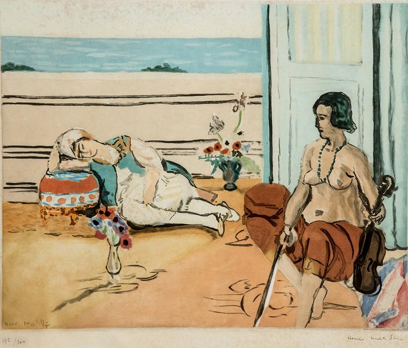 Henri Matisse, Odalisque sur la terrasse, 1922, acquatinta su carta