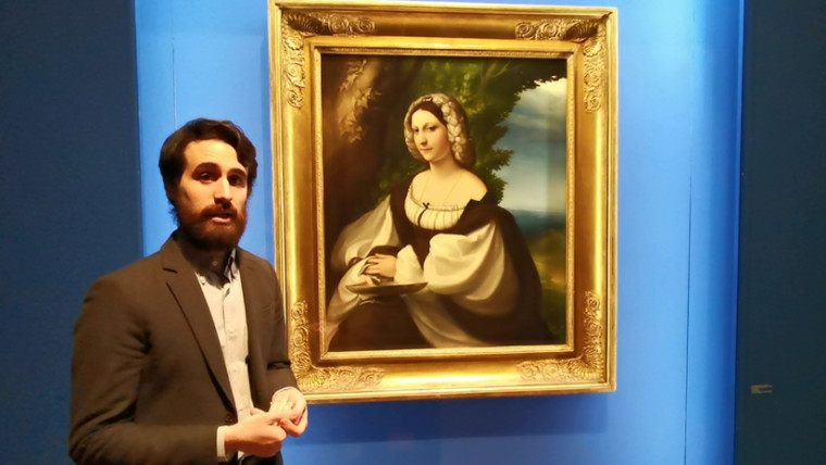 """Visita guidata virtuale di """"Ritratto di giovane donna"""" del Correggio"""